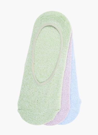 Divarese Divarese 5021850 K 3Lü Kısa Flamalı Kadın Çorap Beyaz